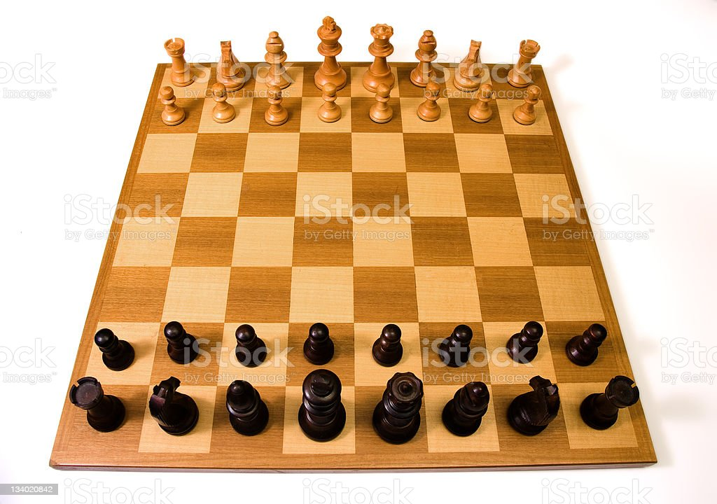 Chessboard and chessmen royalty-free stock photo