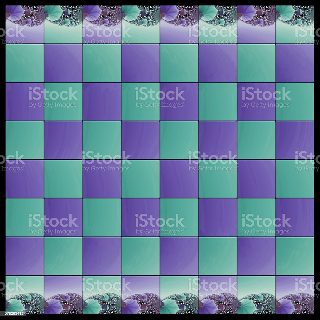 chess board design based on fractal image stock vector art