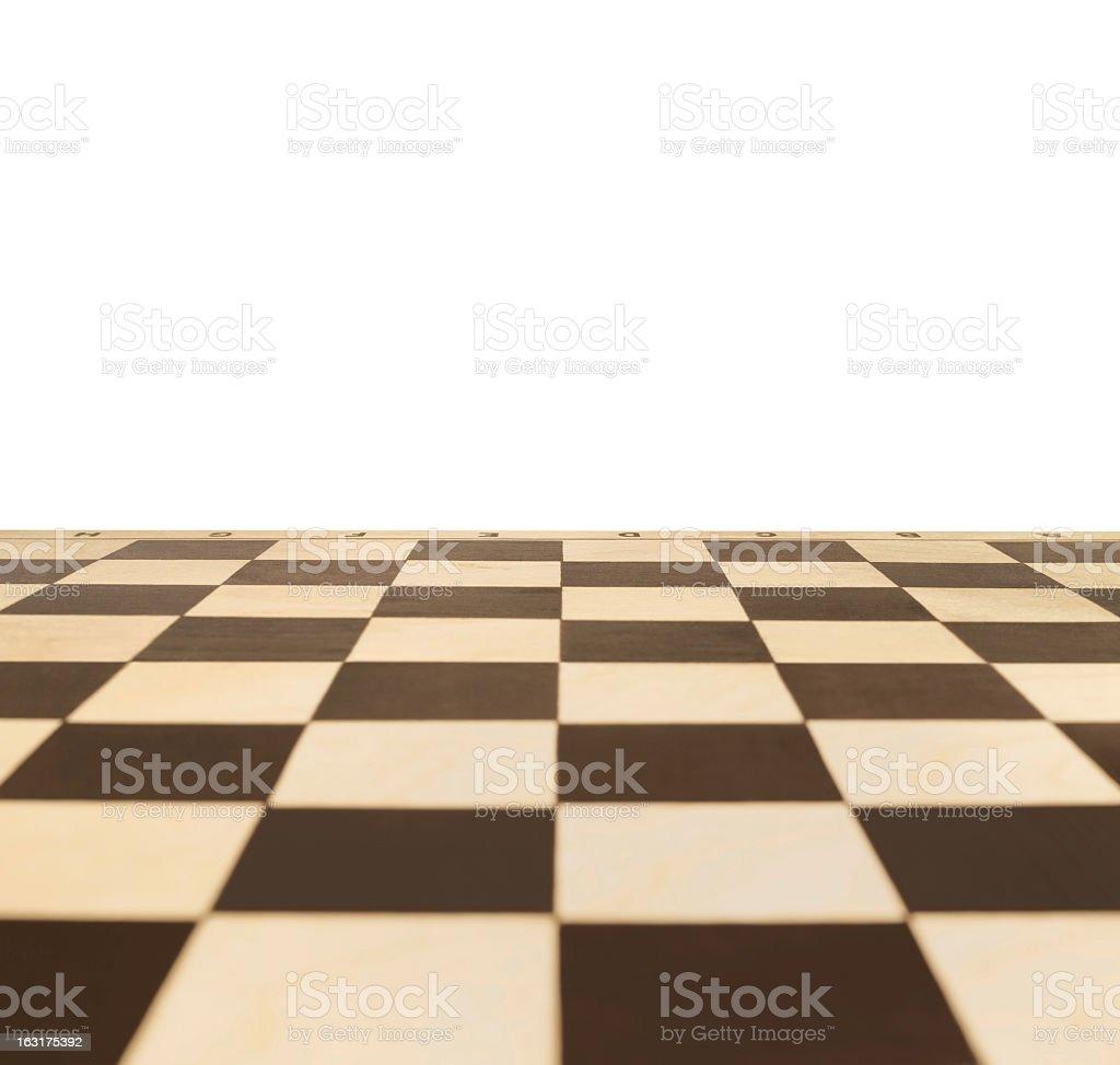 Chessboard expanding into the horizon stock photo
