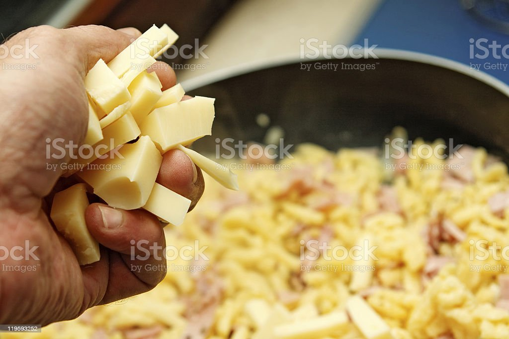 Chesse noodles stock photo