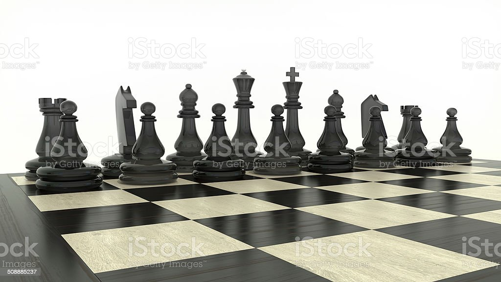 chessmen stock photo