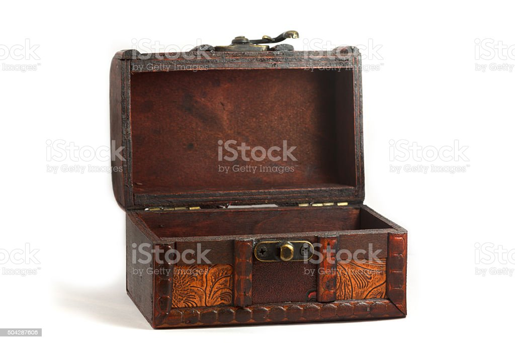Chest box isolated on white stock photo
