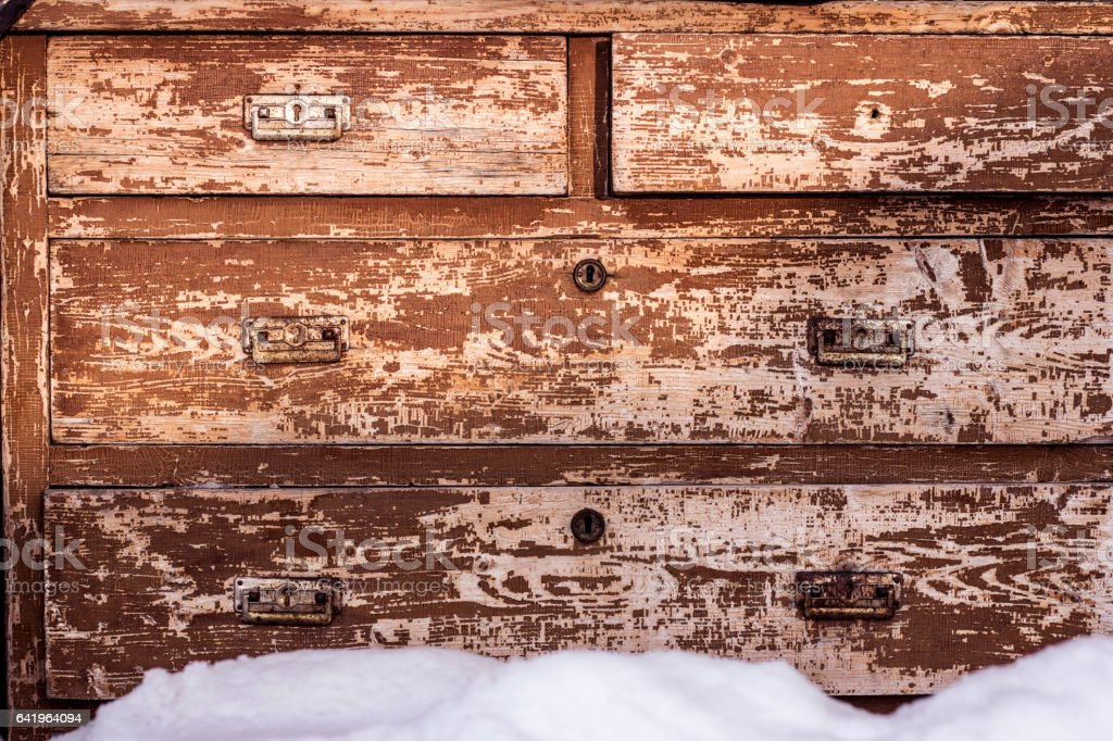 chest of drawers, commode, cupboard stock photo