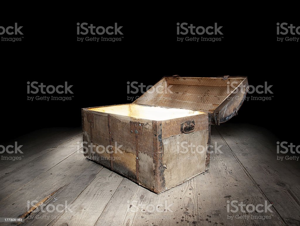 Chest of treasure stock photo
