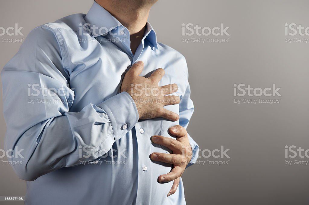 Chest Pain stock photo