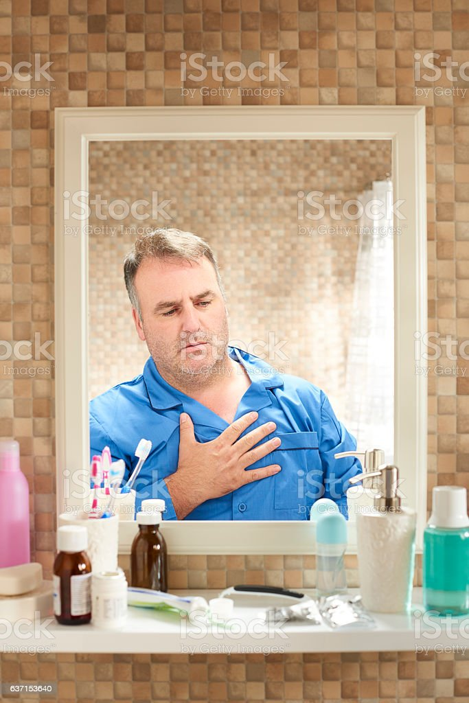 chest pains stock photo