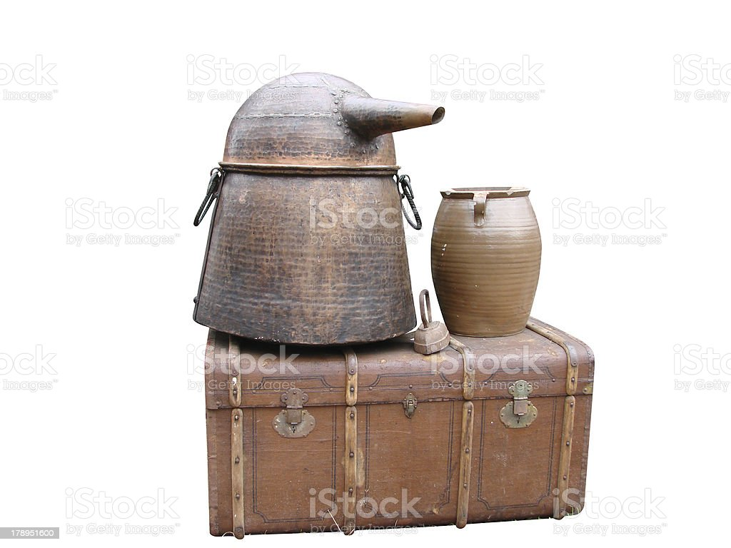 Chest pot teapot household goods royalty-free stock photo