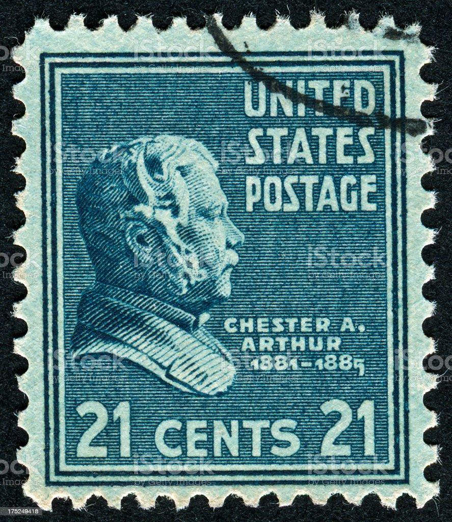 Chester A. Arthur stock photo