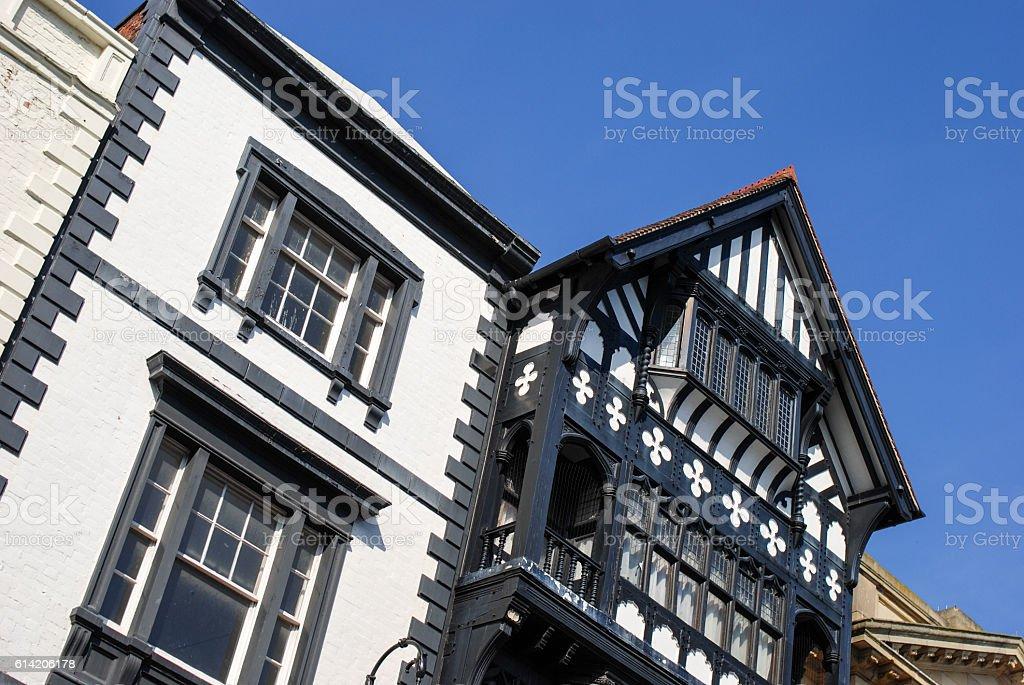Chester architecture stock photo