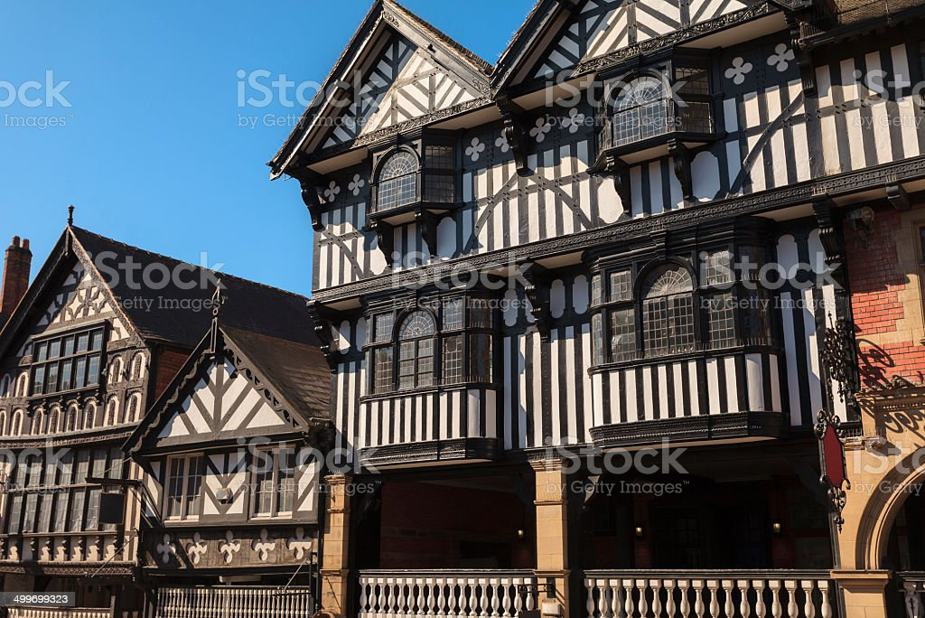 Chester buildings stock photo