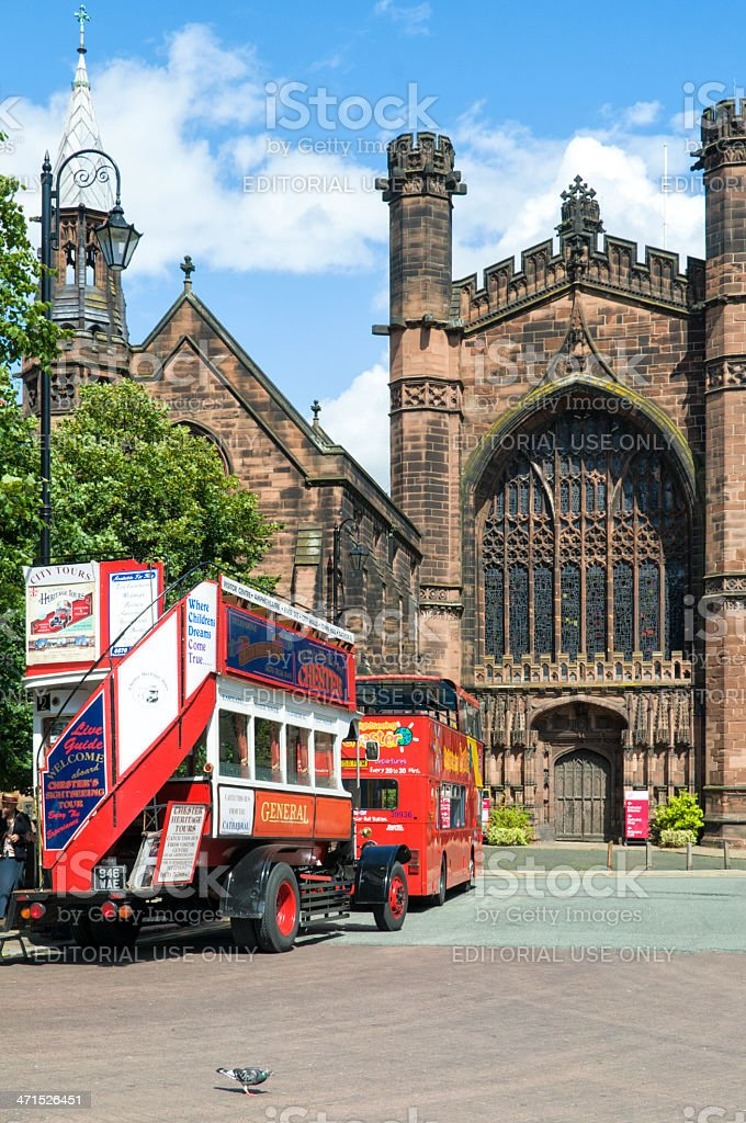 Chester Buses royalty-free stock photo