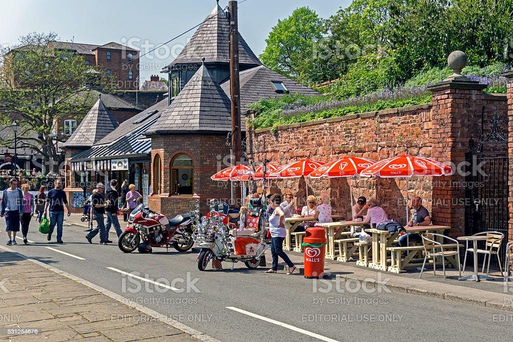 Chester Cafe, UK stock photo