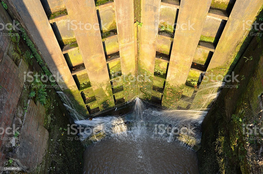 Chester Canal Lock Gate and Walls royalty-free stock photo