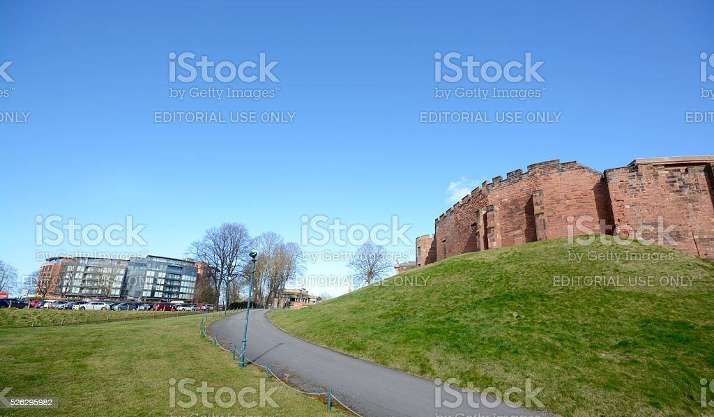 Chester castle and Abode Hotel stock photo
