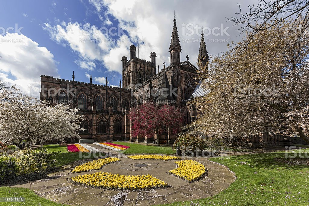 Chester Cathedral stock photo