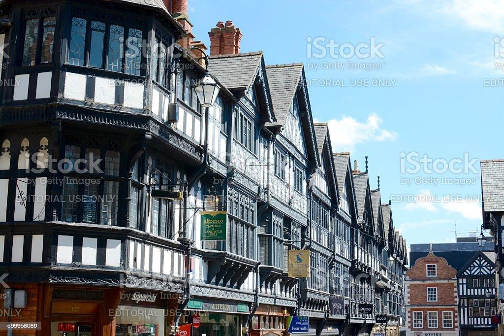 Chester city centre stock photo