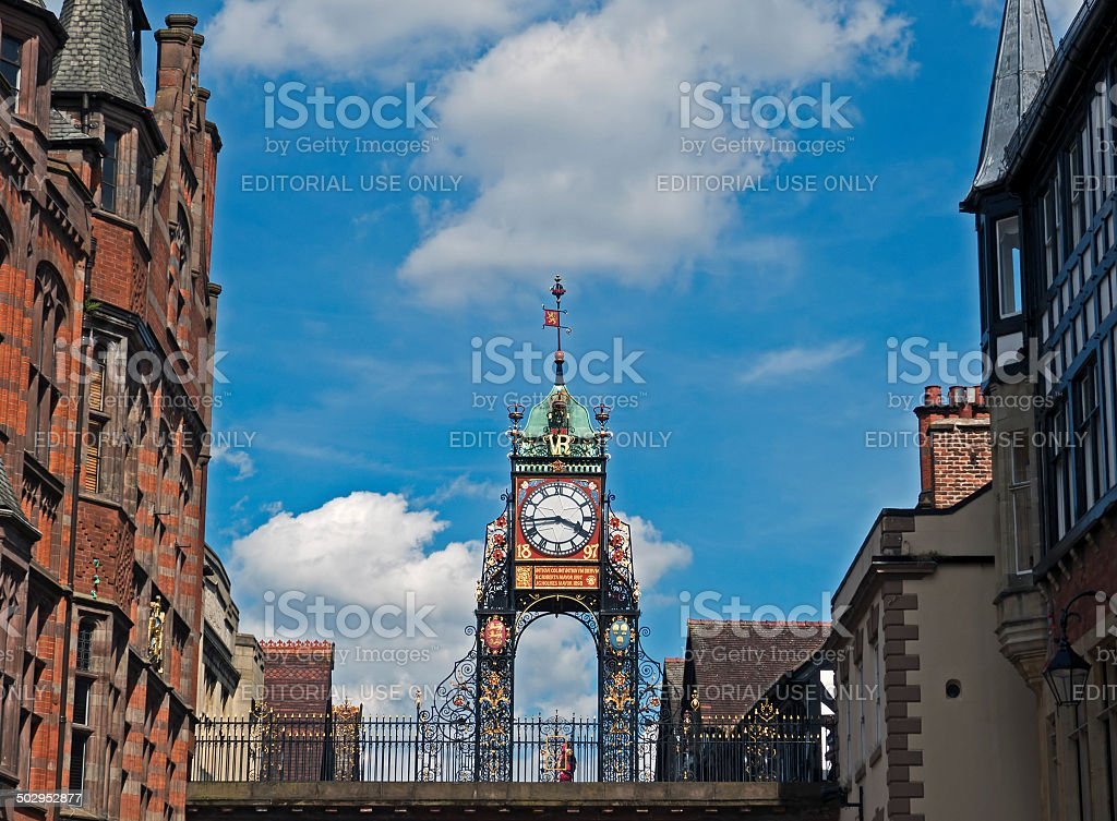 Chester Clock stock photo