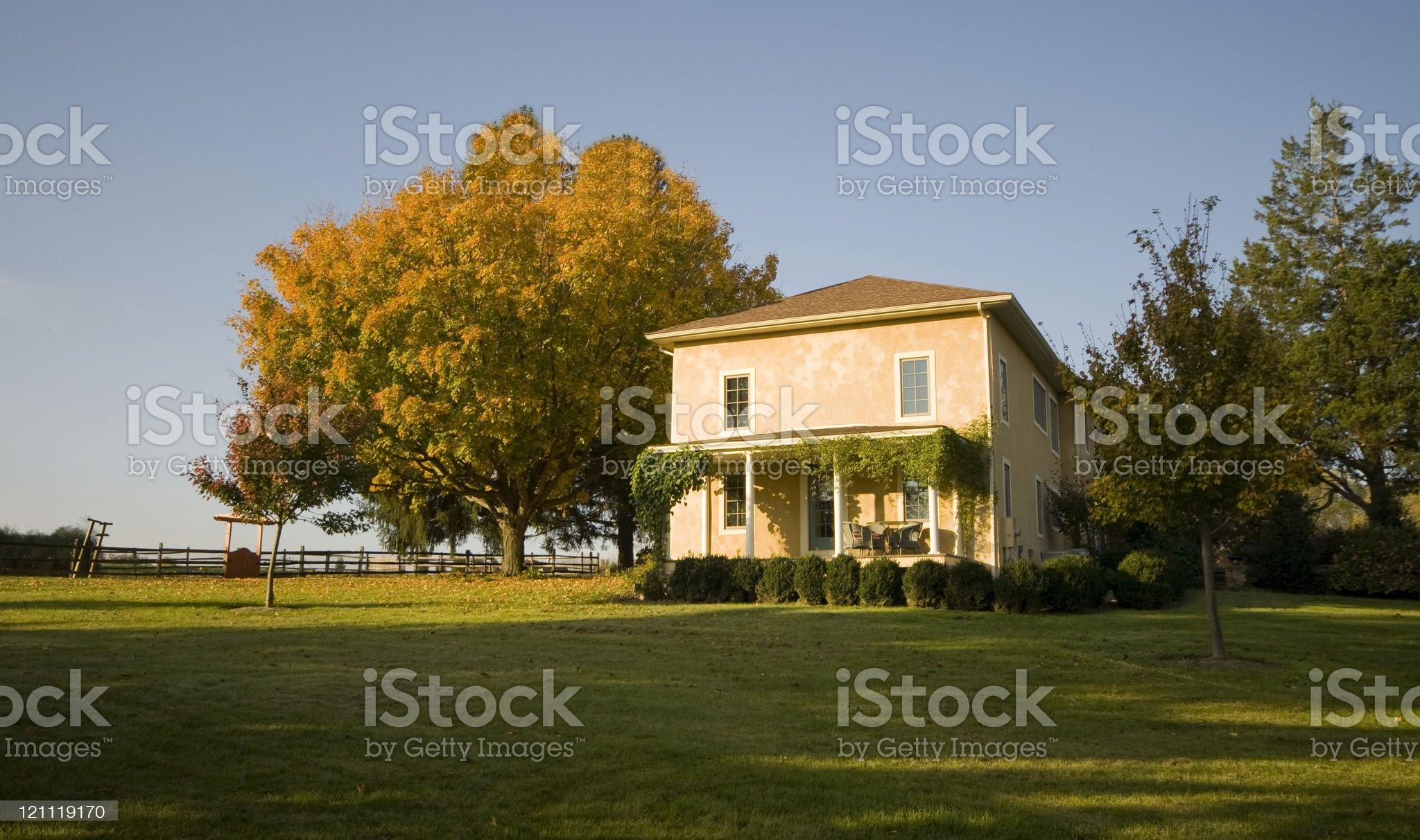Chester County Pennsylvania Farm House royalty-free stock photo