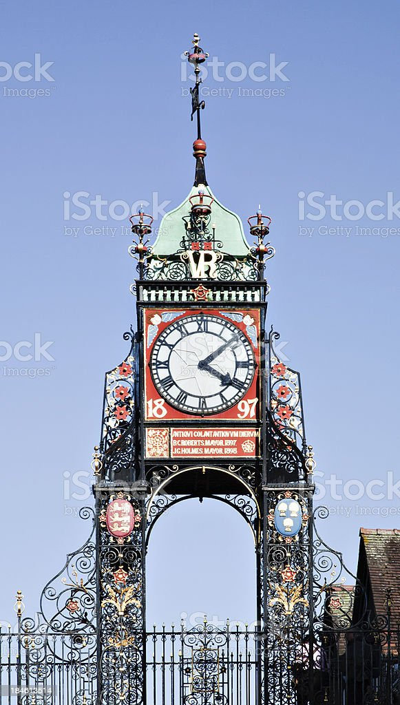Chester Eastgate Clock royalty-free stock photo