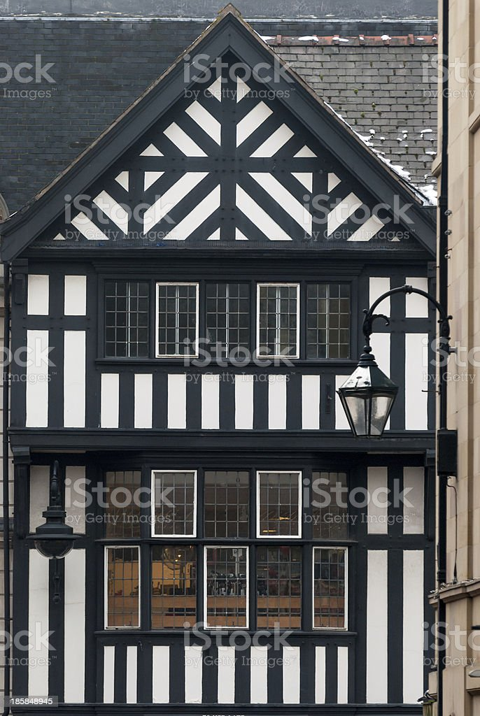 Chester, England, medieval architecture stock photo