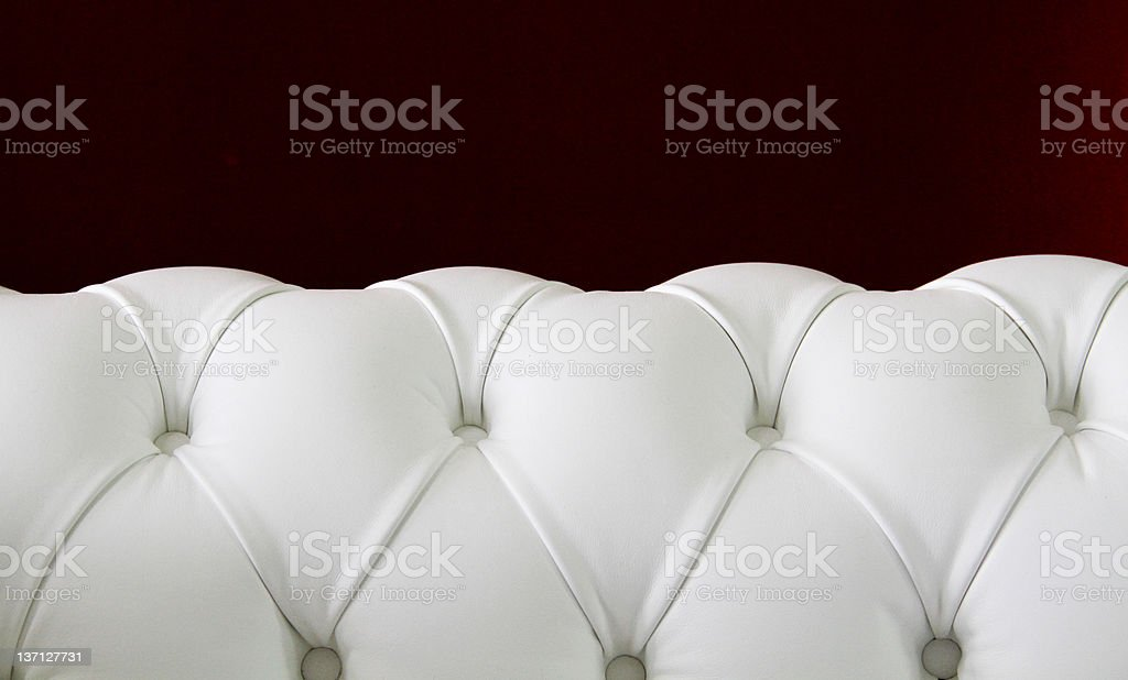 Chester leather sofa stock photo