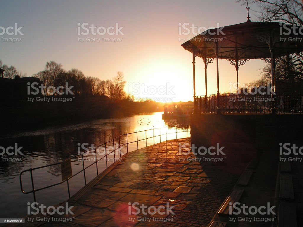 Chester River Dee & Bandstand at Sunset stock photo