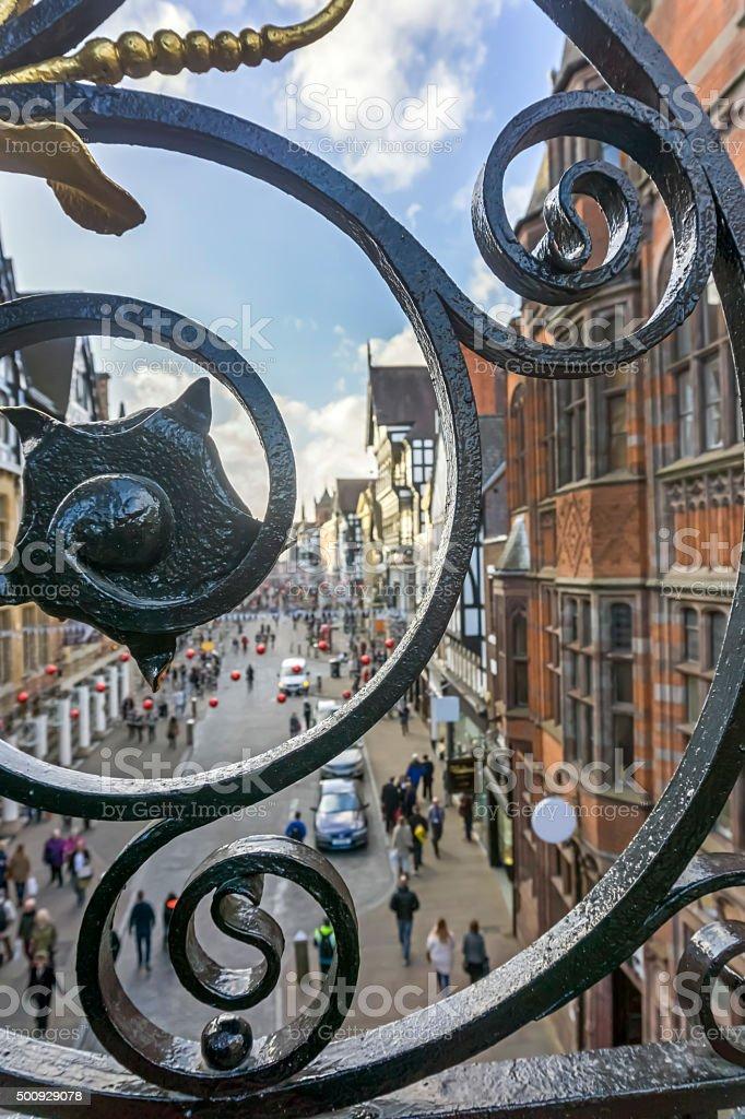 Chester Shopping stock photo
