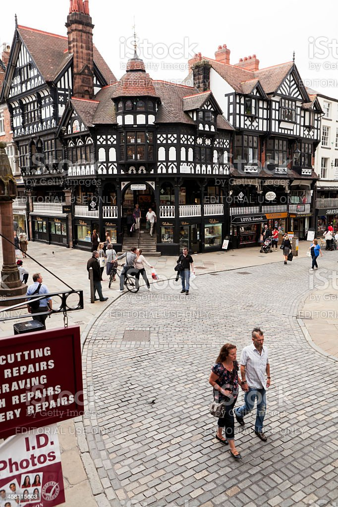 Chester Shops royalty-free stock photo