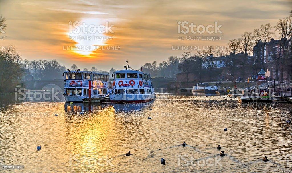 Chester Sunset stock photo
