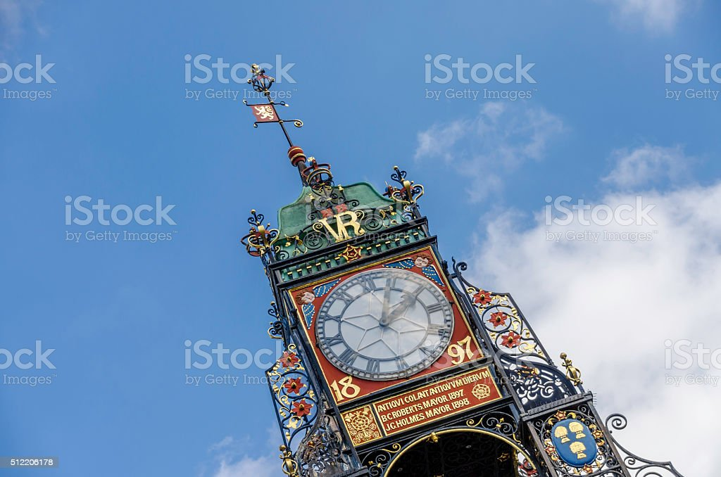 Chester's East Gate Clock Tower stock photo