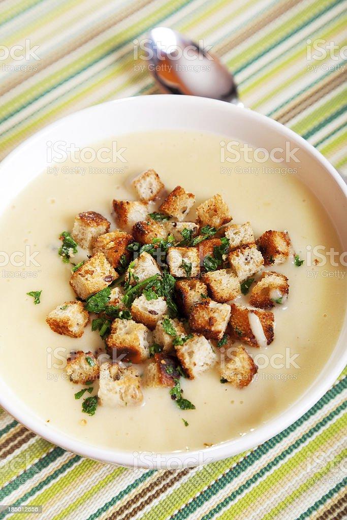 Chestnut cream soup royalty-free stock photo
