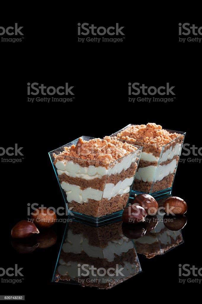 Chestnut dessert. stock photo