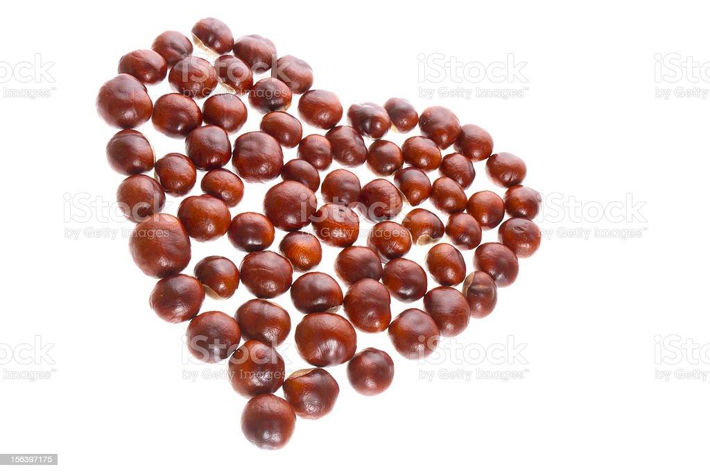 chestnut heart royalty-free stock photo