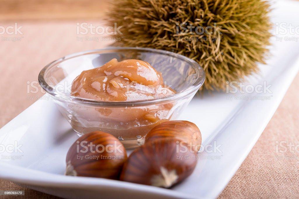 chestnut jam stock photo