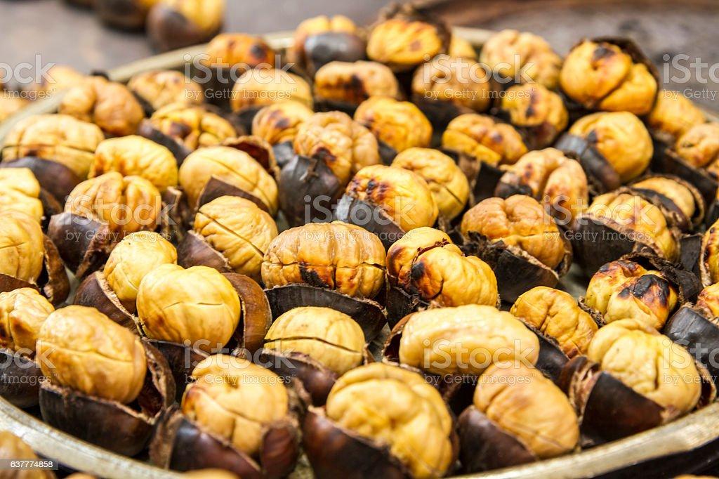 chestnut, marron, Turkish chestnut, sweet chestnut stock photo
