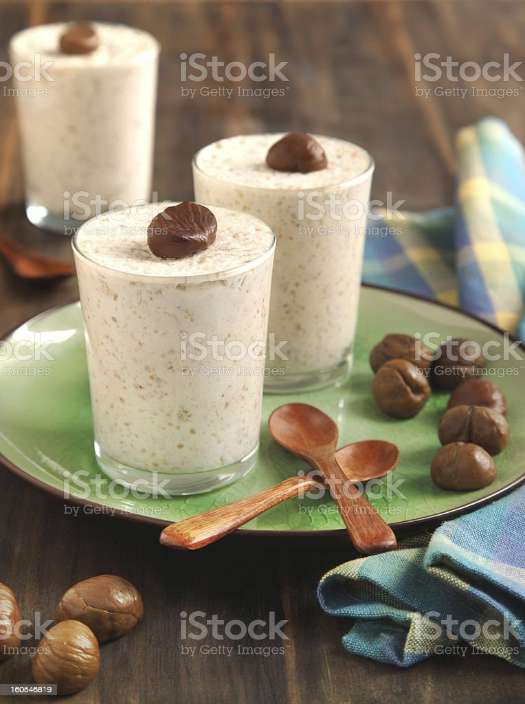 Chestnut mousse royalty-free stock photo