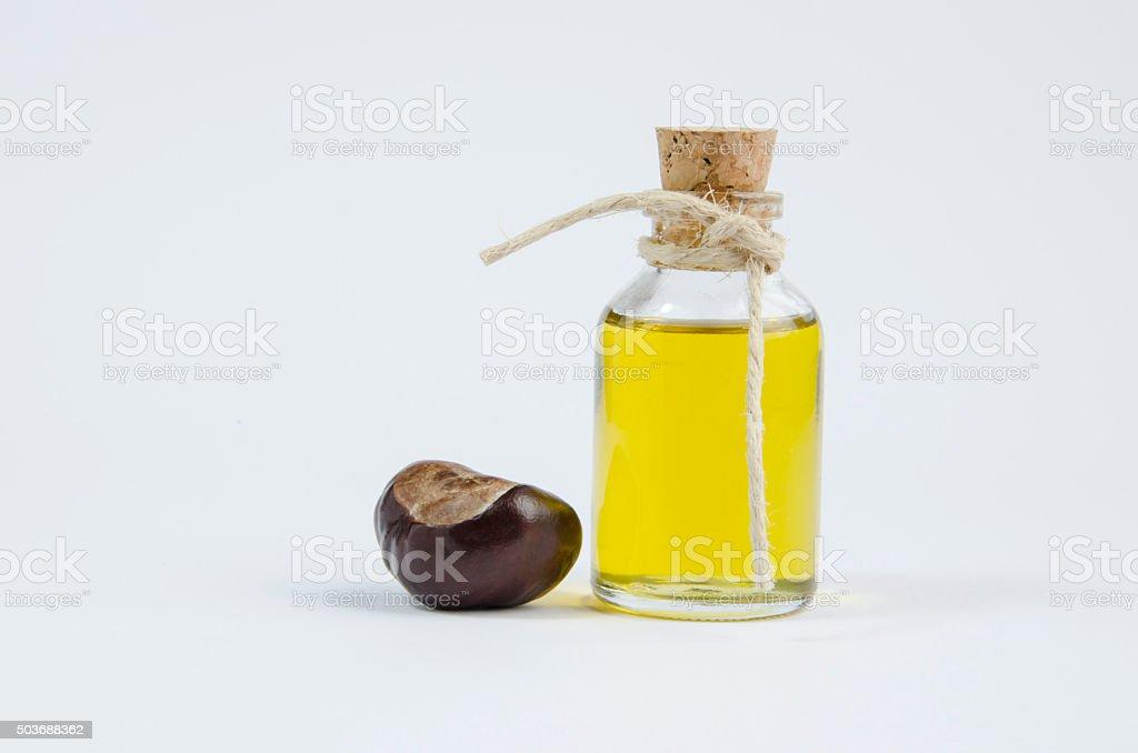 Chestnut oil. royalty-free stock photo