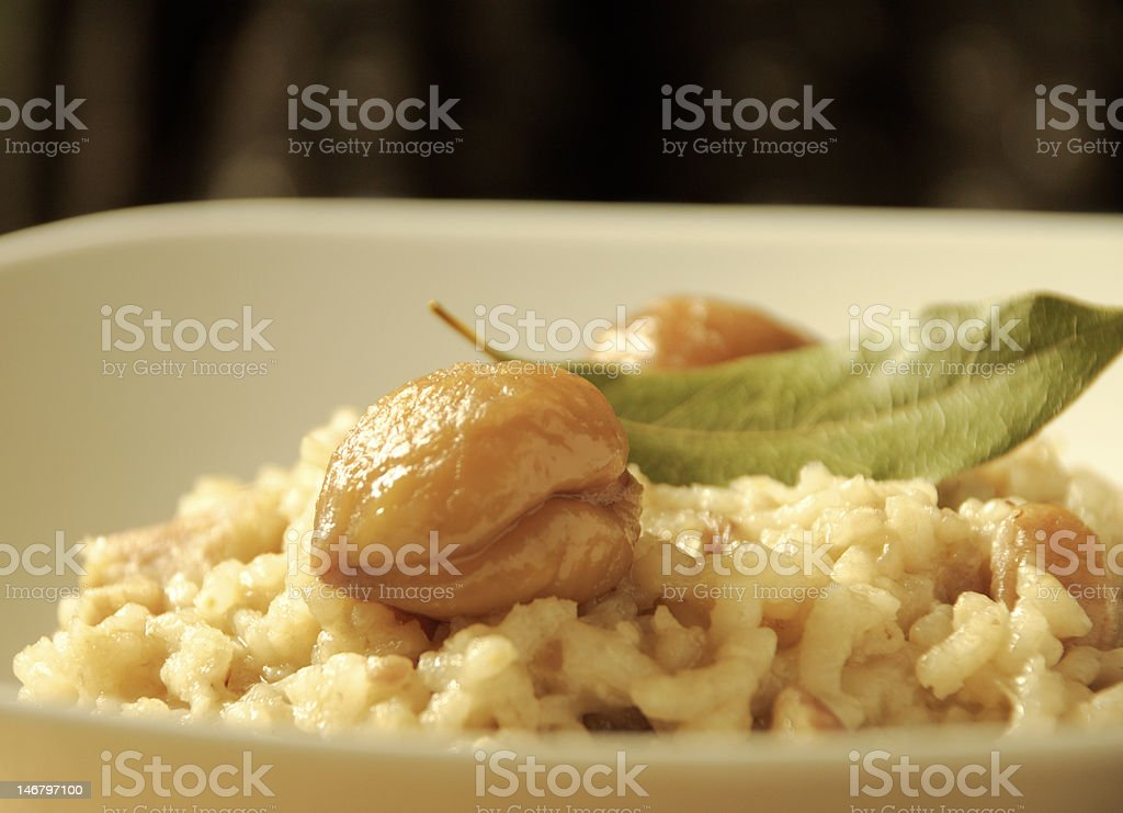 Chestnut Risotto royalty-free stock photo