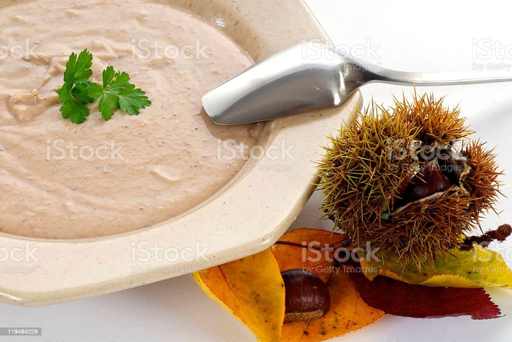 chestnut soup royalty-free stock photo