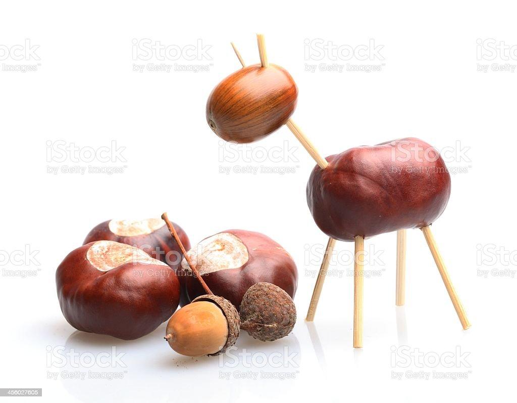 Chestnut toy royalty-free stock photo
