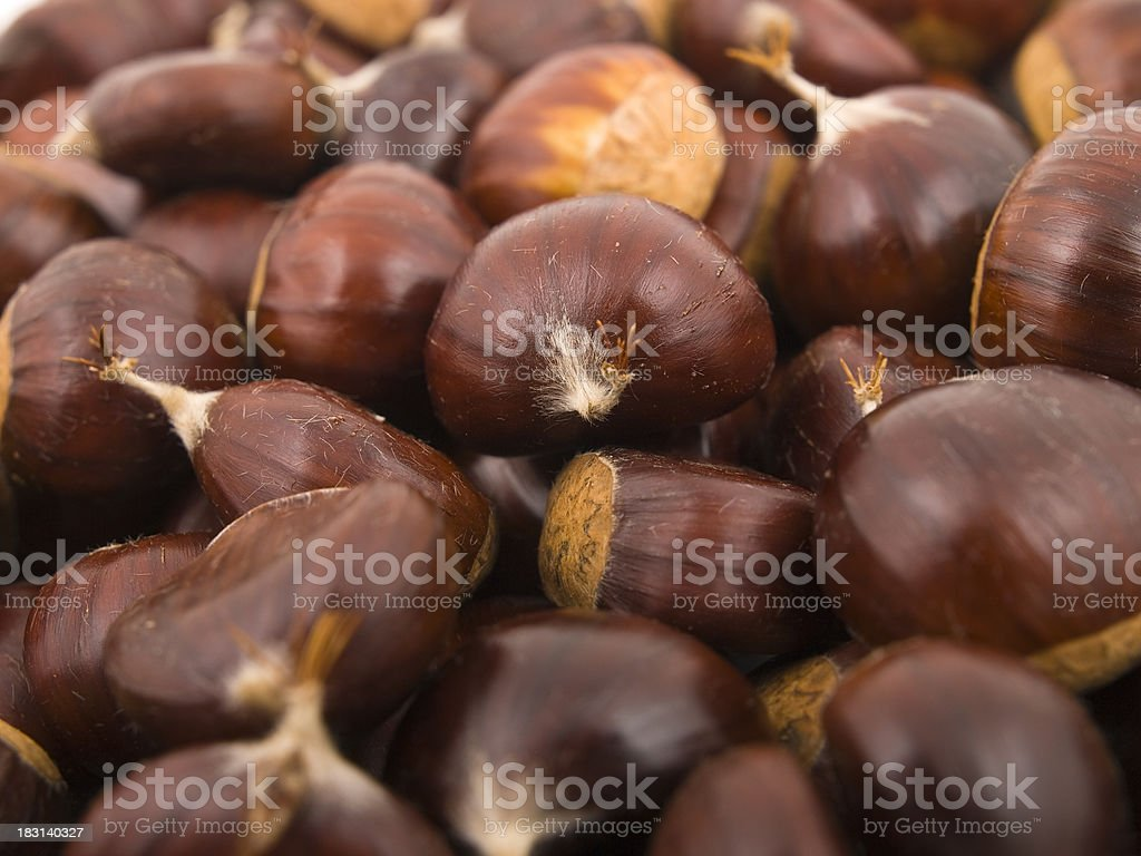 Chestnuts background royalty-free stock photo