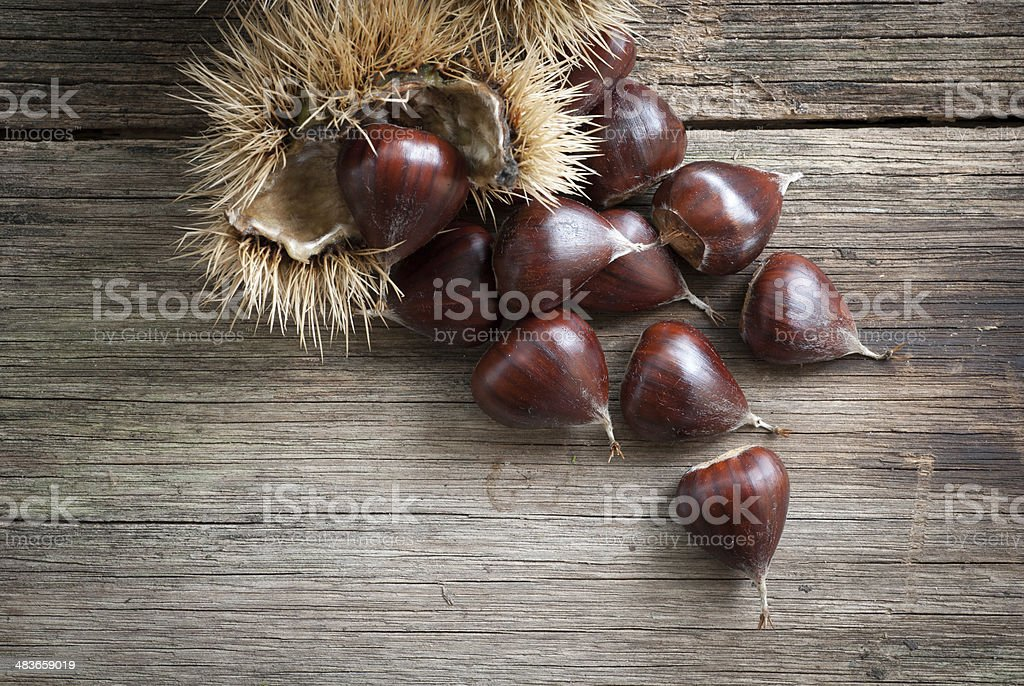 Chestnuts Close-up royalty-free stock photo