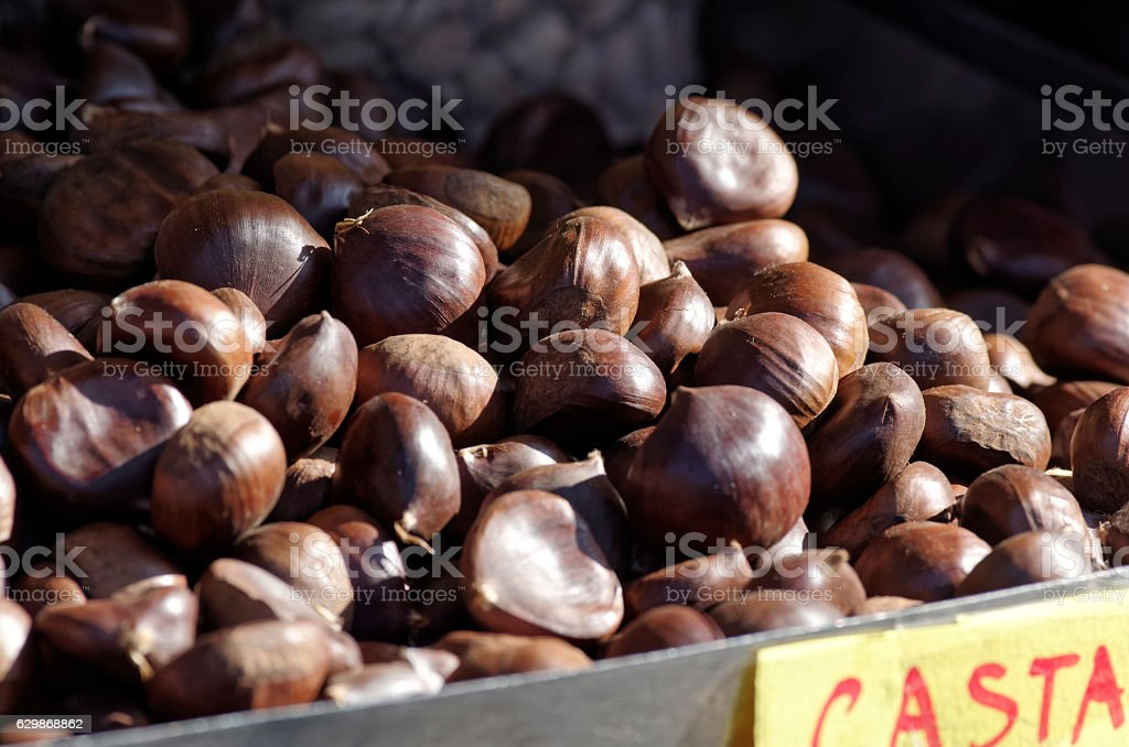 Castagne in Milano stock photo