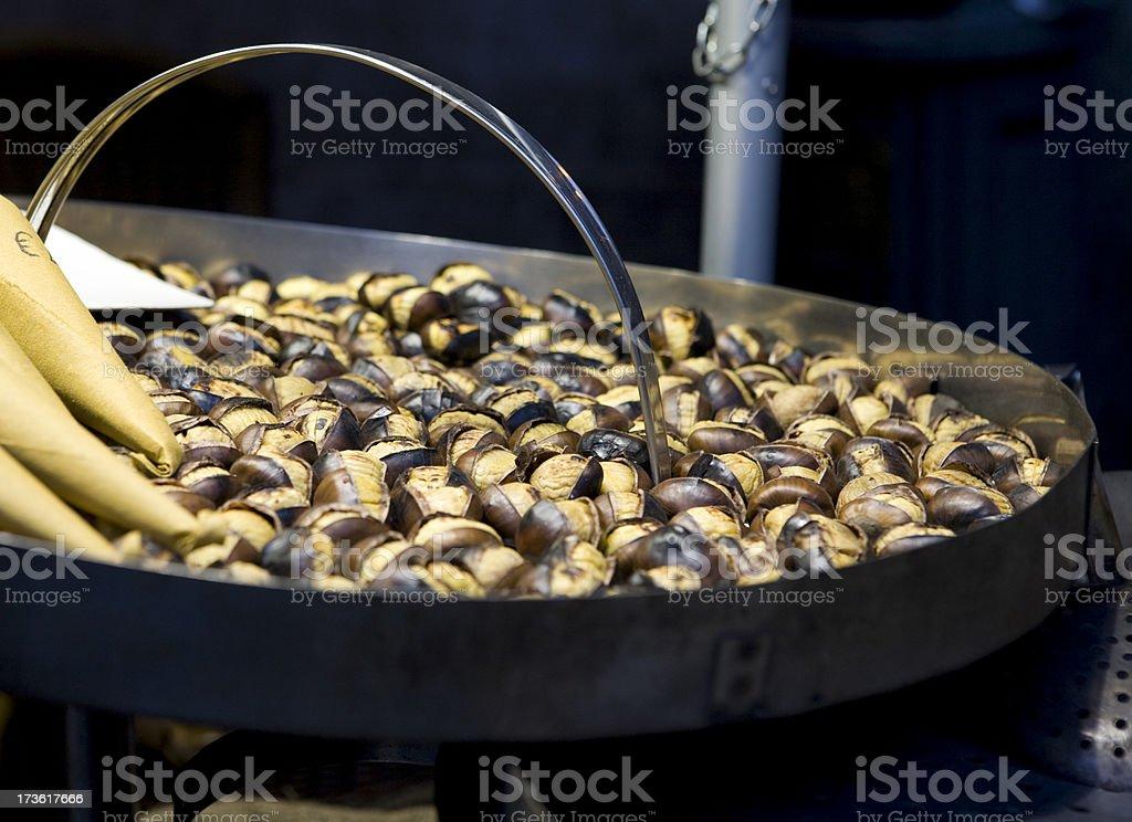 Chestnuts Roasting royalty-free stock photo