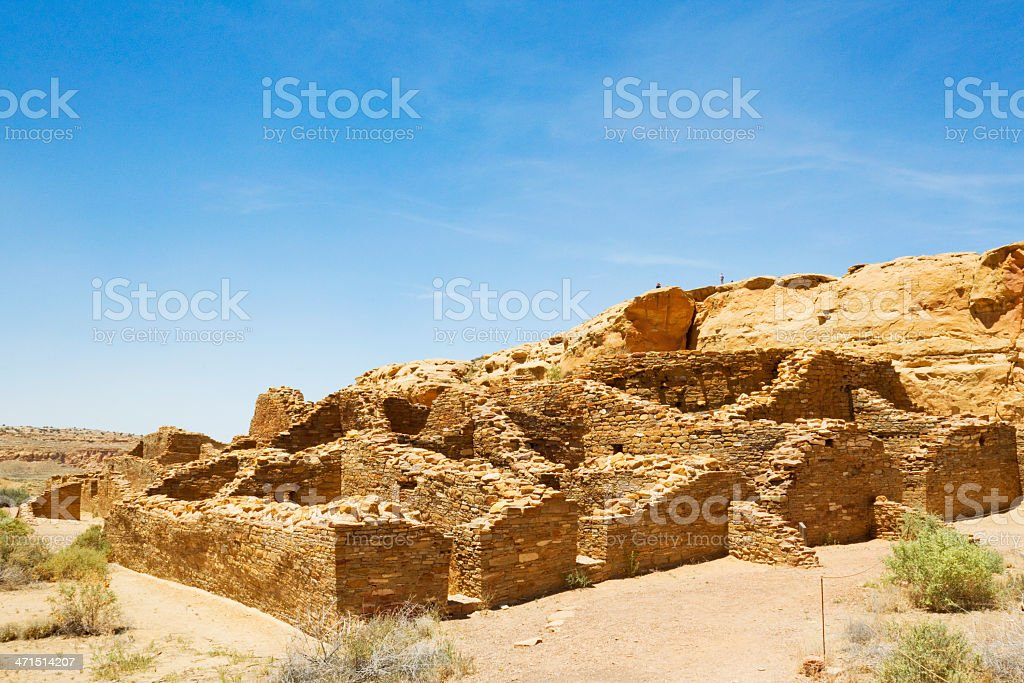 Chetro Ketl Ruins - Chaco Culture National Historical Park stock photo