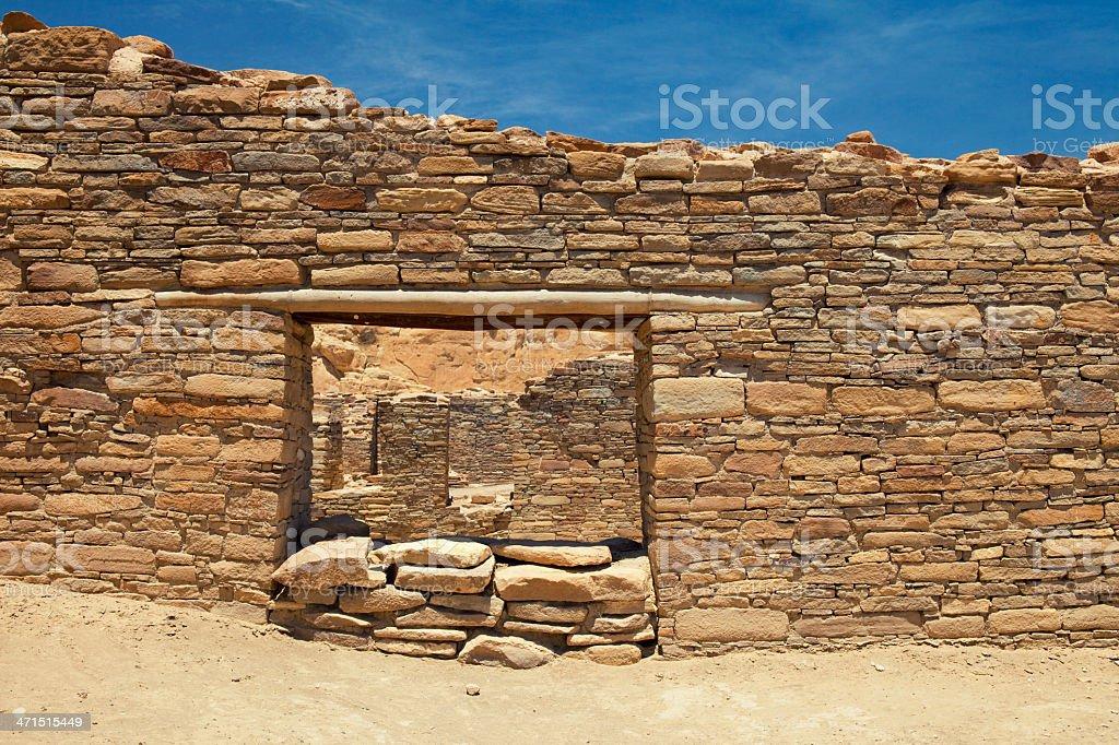 Chetro Ketl Ruins - Chaco Culture National Historical Park royalty-free stock photo