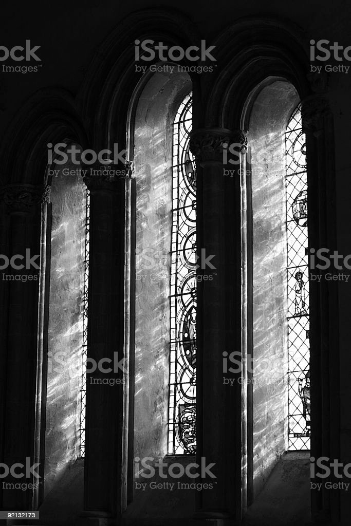 Chetwode Window black white stock photo