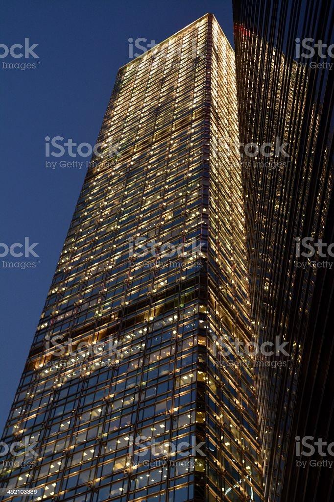 Cheung Kong Center, Hong Kong island stock photo