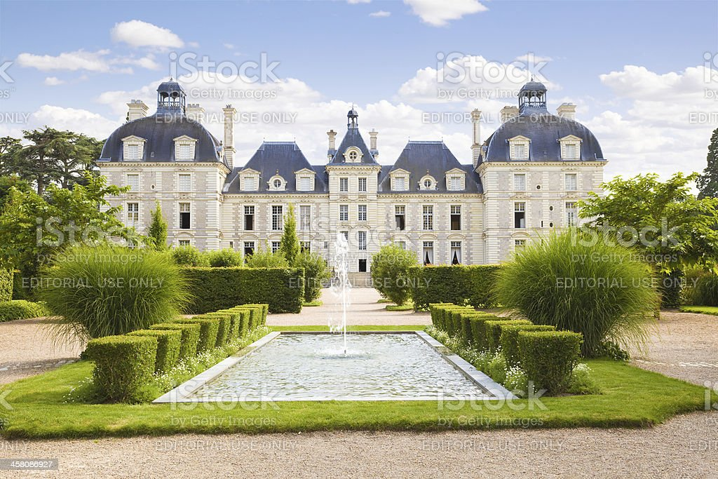 Cheverny Chateau panoramic stock photo