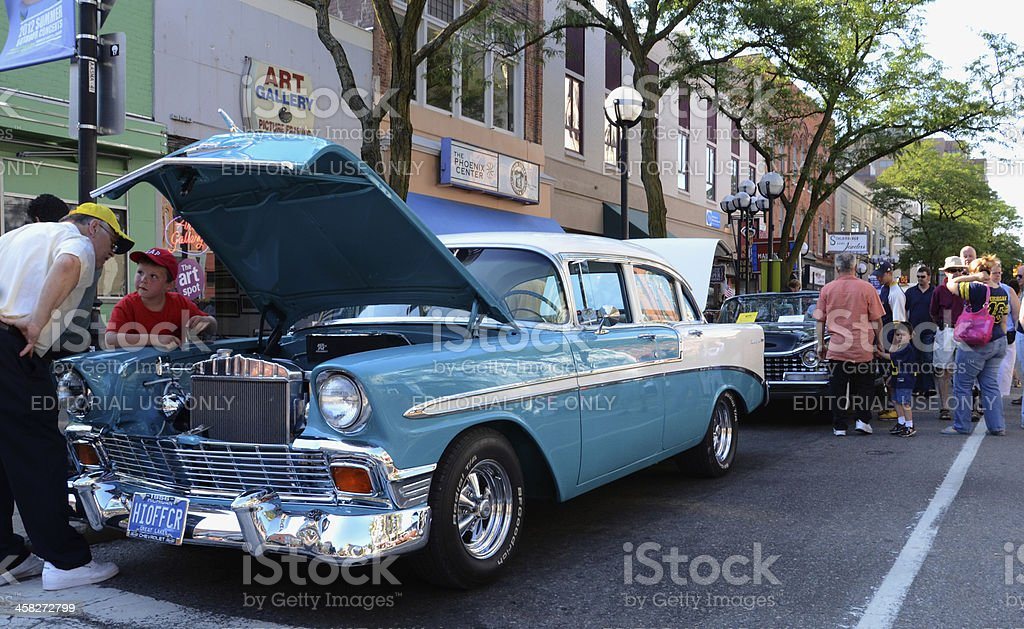 1965 Chevrolet at the Rolling Sculpture car show stock photo